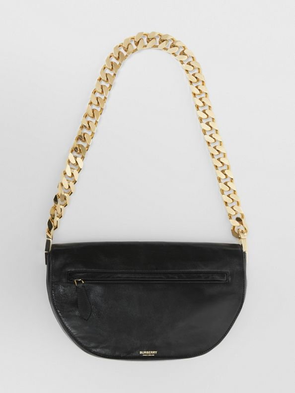 Medium Lambskin Olympia Bag in Black