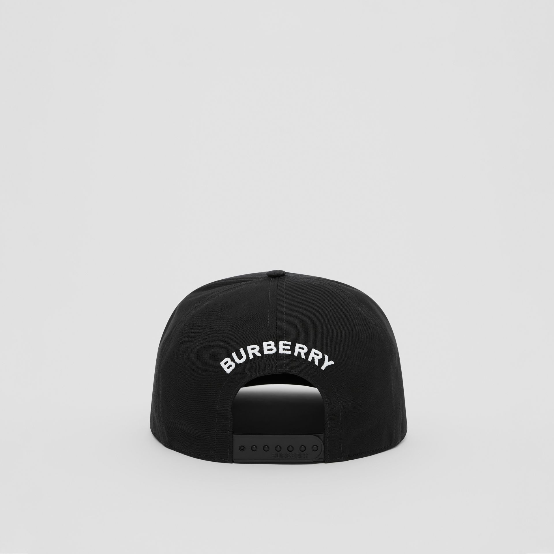 Love Print Cotton Gabardine Baseball Cap in Black | Burberry Canada - gallery image 5