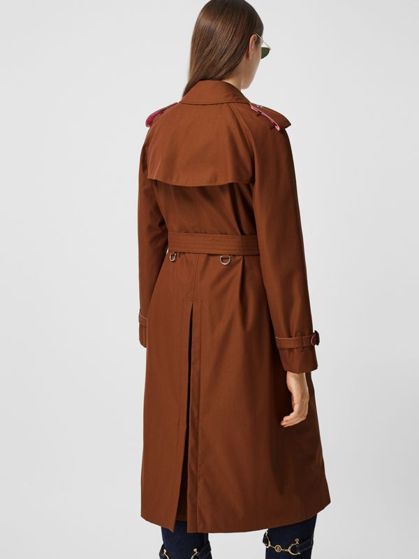 Colour Block Cotton Gabardine Trench Coat in Chestnut Brown - Women | Burberry - cell image 2