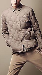 Down-Filled Diamond Quilted Jacket