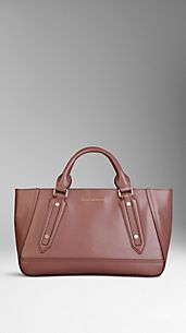 Petit sac tote en cuir London verni