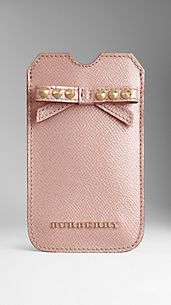 Patent London Leather Studded Bow iPhone 5 Case