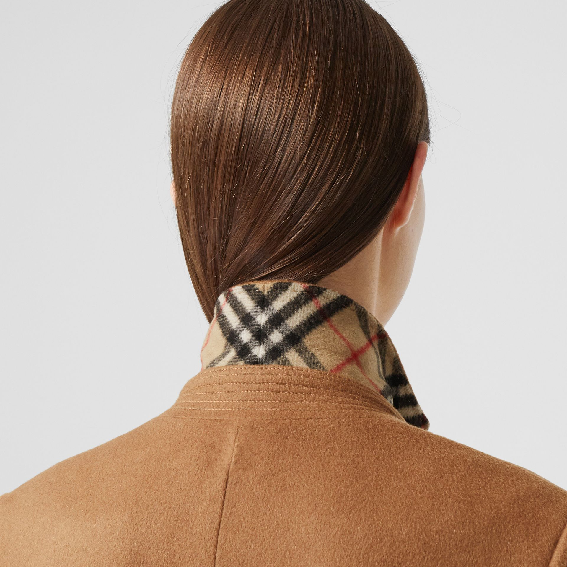 Cashmere Tailored Coat in Bronze - Women | Burberry - gallery image 4