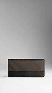 Smoked Check Continental Wallet