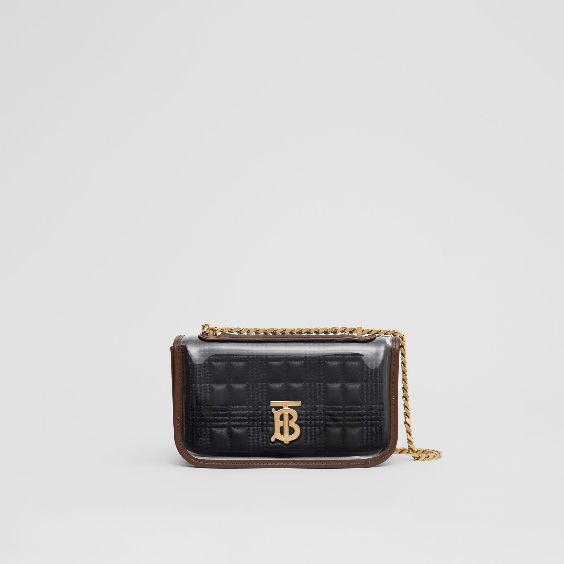 Mini Quilted Lambskin Lola Bag with Transparent Cover - Women | Burberry - gallery image 0
