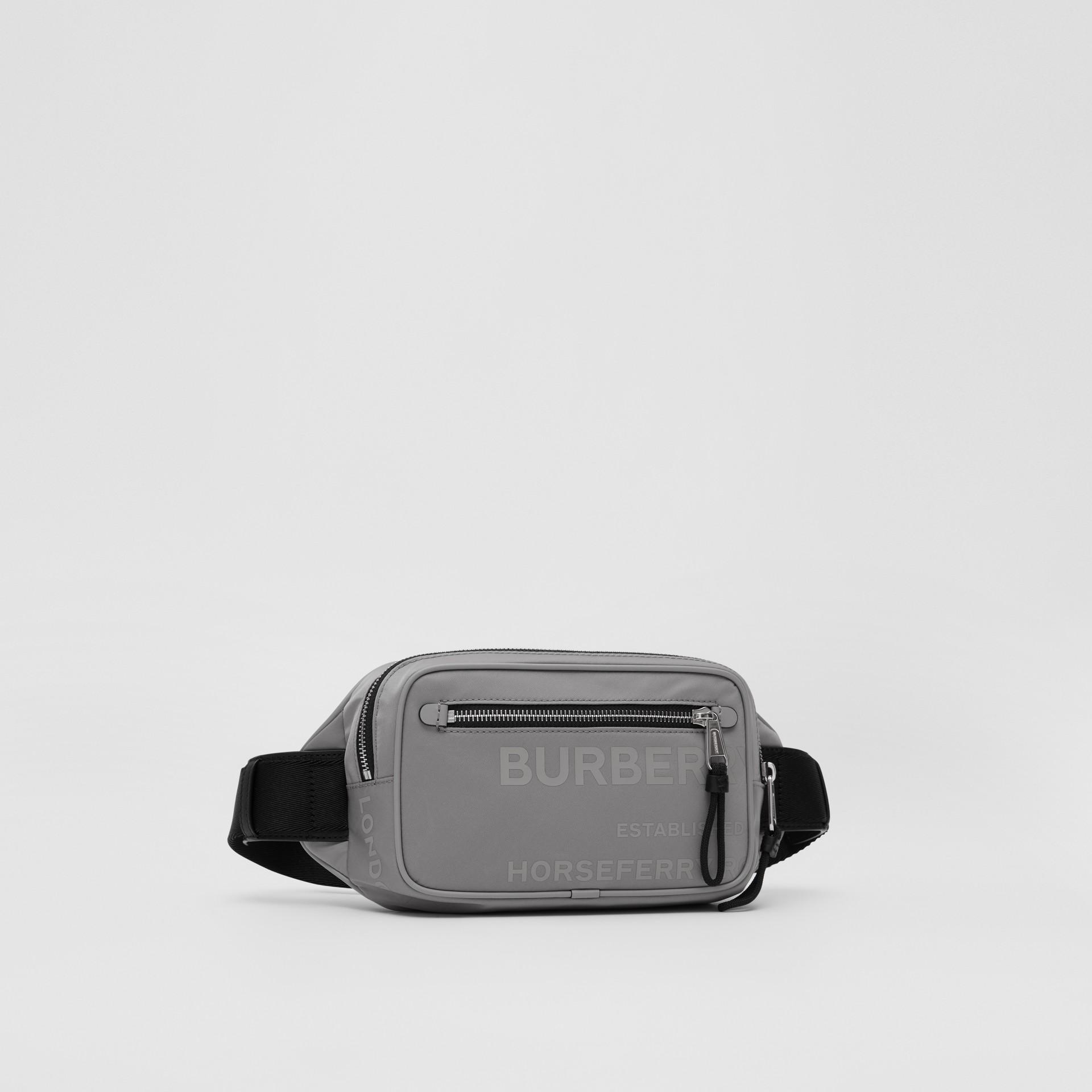 Horseferry Print ECONYL® Bum Bag - Men | Burberry United Kingdom - gallery image 4