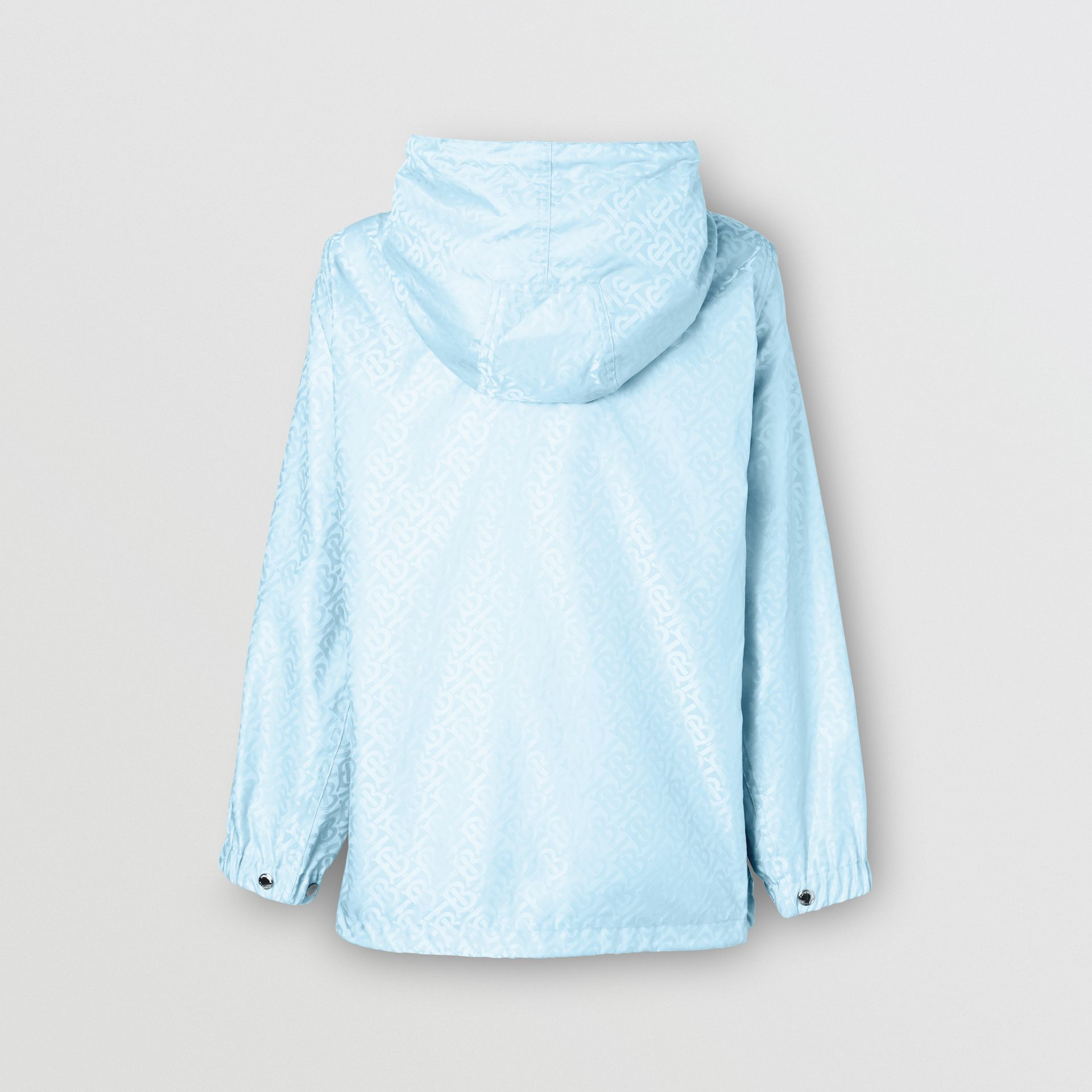 Monogram ECONYL® Jacquard Hooded Jacket in Pale Blue - Women | Burberry - gallery image 2