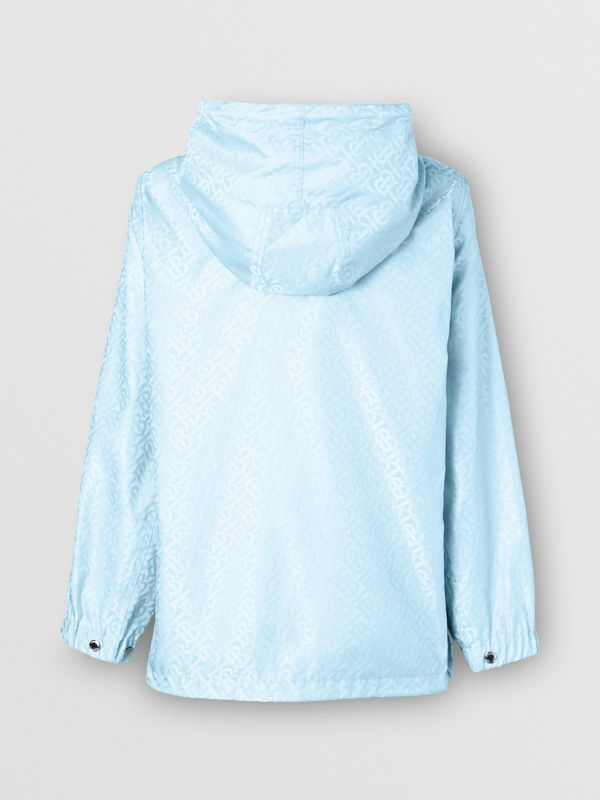 Monogram ECONYL® Jacquard Hooded Jacket in Pale Blue - Women | Burberry - cell image 2