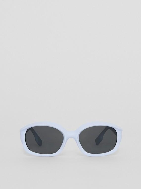 Sonnenbrille mit ovalem Gestell (Kobaltblau)