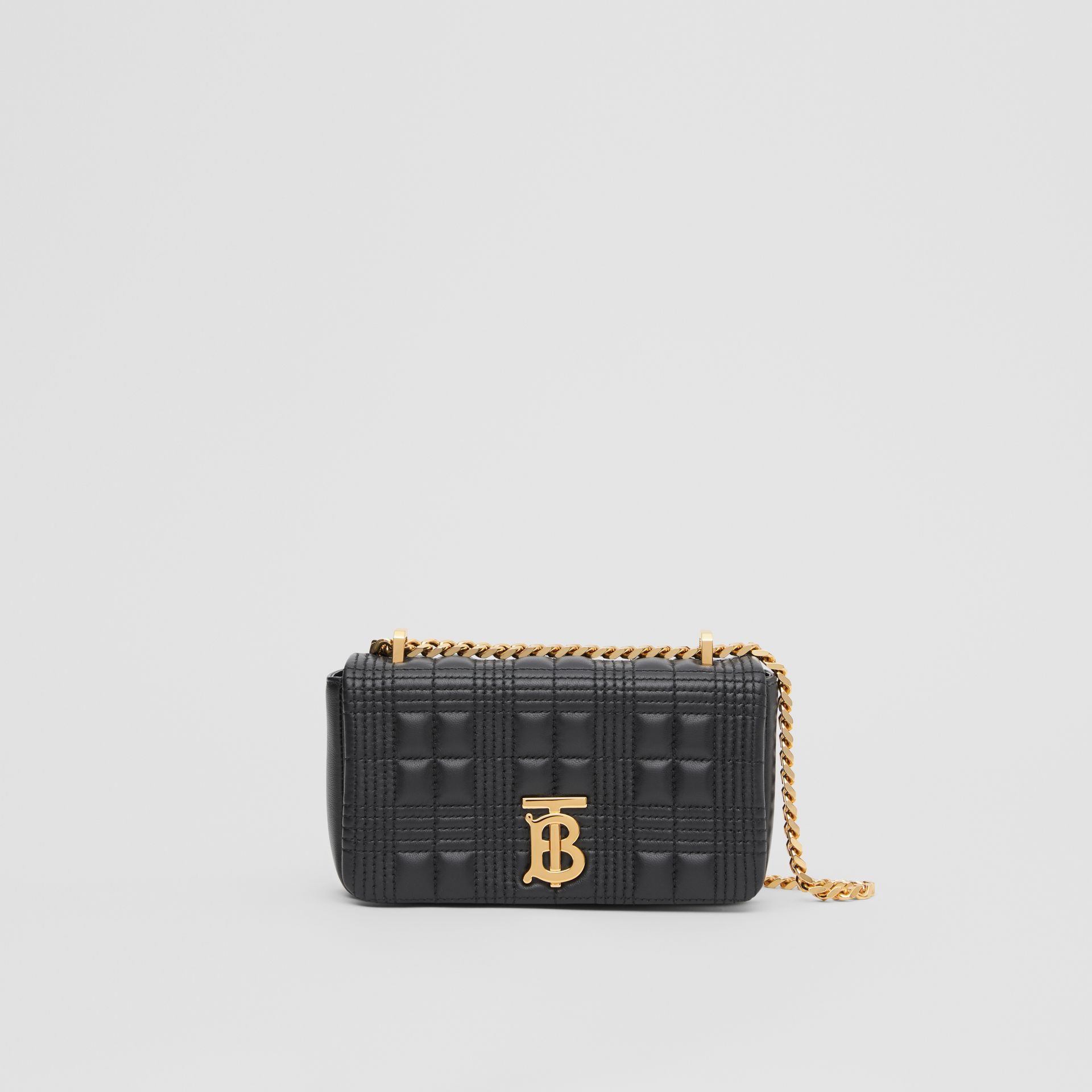 Mini Quilted Lambskin Lola Bag with Transparent Cover - Women | Burberry - gallery image 7