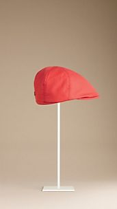 Cotton Gabardine Flat Cap