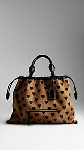 The Big Crush in Heart Print Calfskin