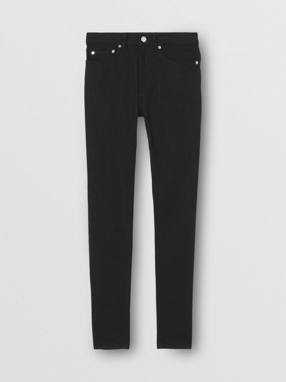 Jeans skinny in denim stretch giapponese (Nero)