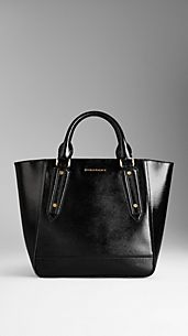 Medium Patent London Leather Tote Bag