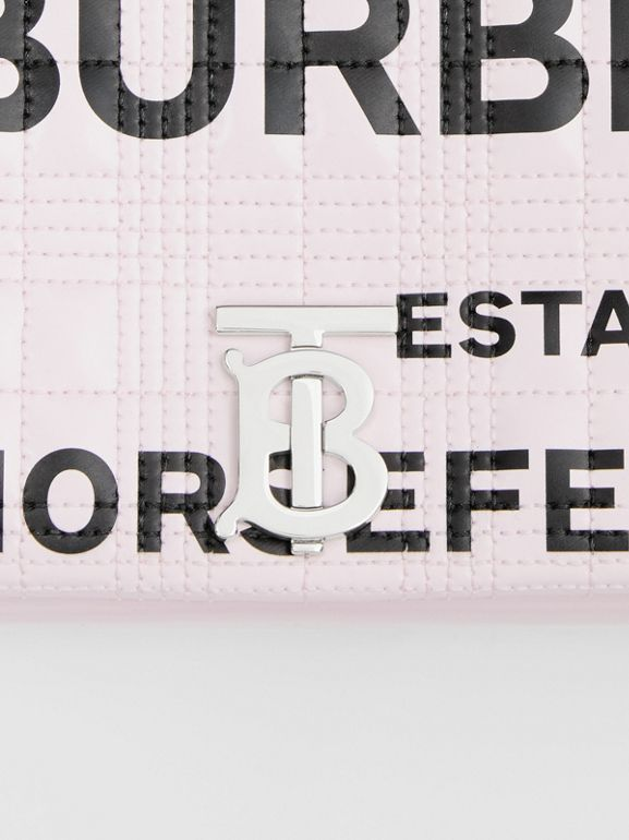 Small Horseferry Print Quilted Lola Bag in Pastel Pink - Women | Burberry - cell image 1