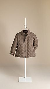 Canvas Collar Quilted Jacket