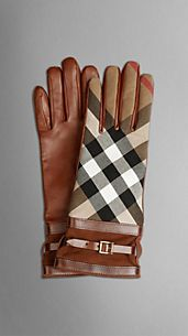 Bridle House Check Gloves