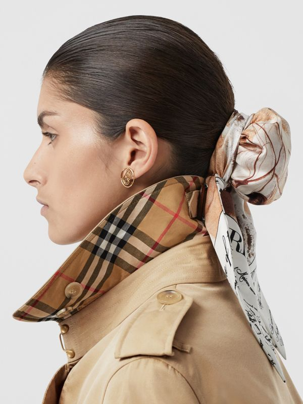 The Mid-length Kensington Heritage Trench Coat in Honey | Burberry - cell image 3