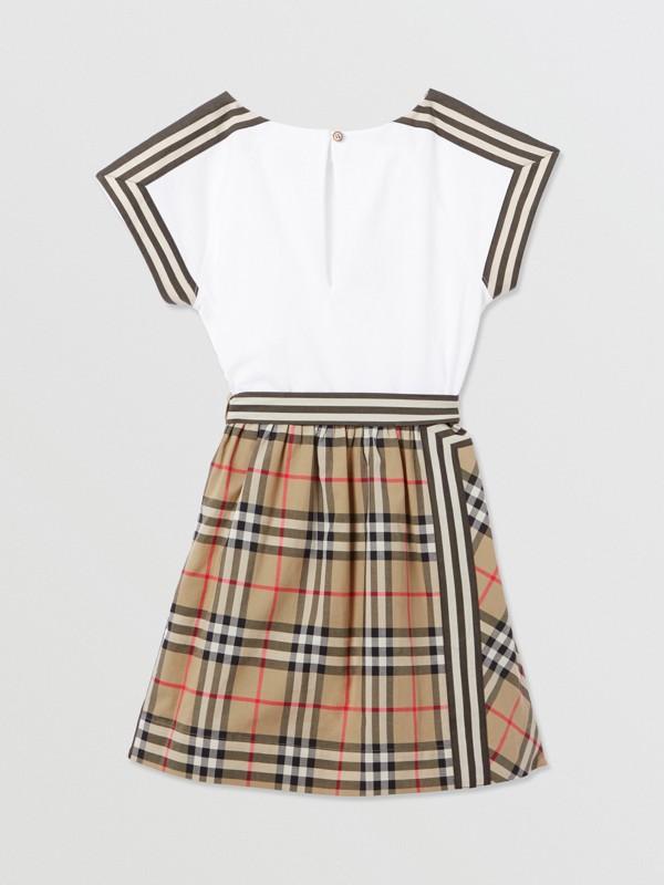 Vintage Check Detail Cotton Dress | Burberry United Kingdom - cell image 3