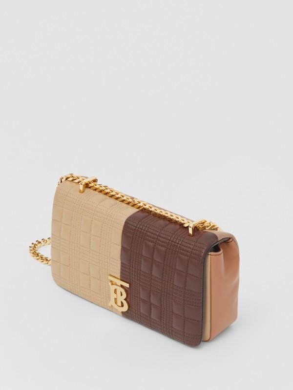 Petit sac Lola en cuir d'agneau matelassé et color-block (Fauve Doux/moka Foncé) - Femme | Burberry - cell image 3