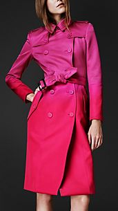 Trench-coat dégradé en satin