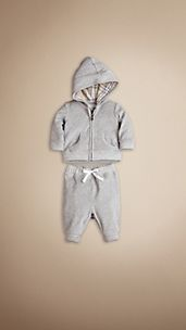 Velour Hooded Top and Trouser Set