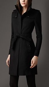 Virgin Wool Fitted Coat