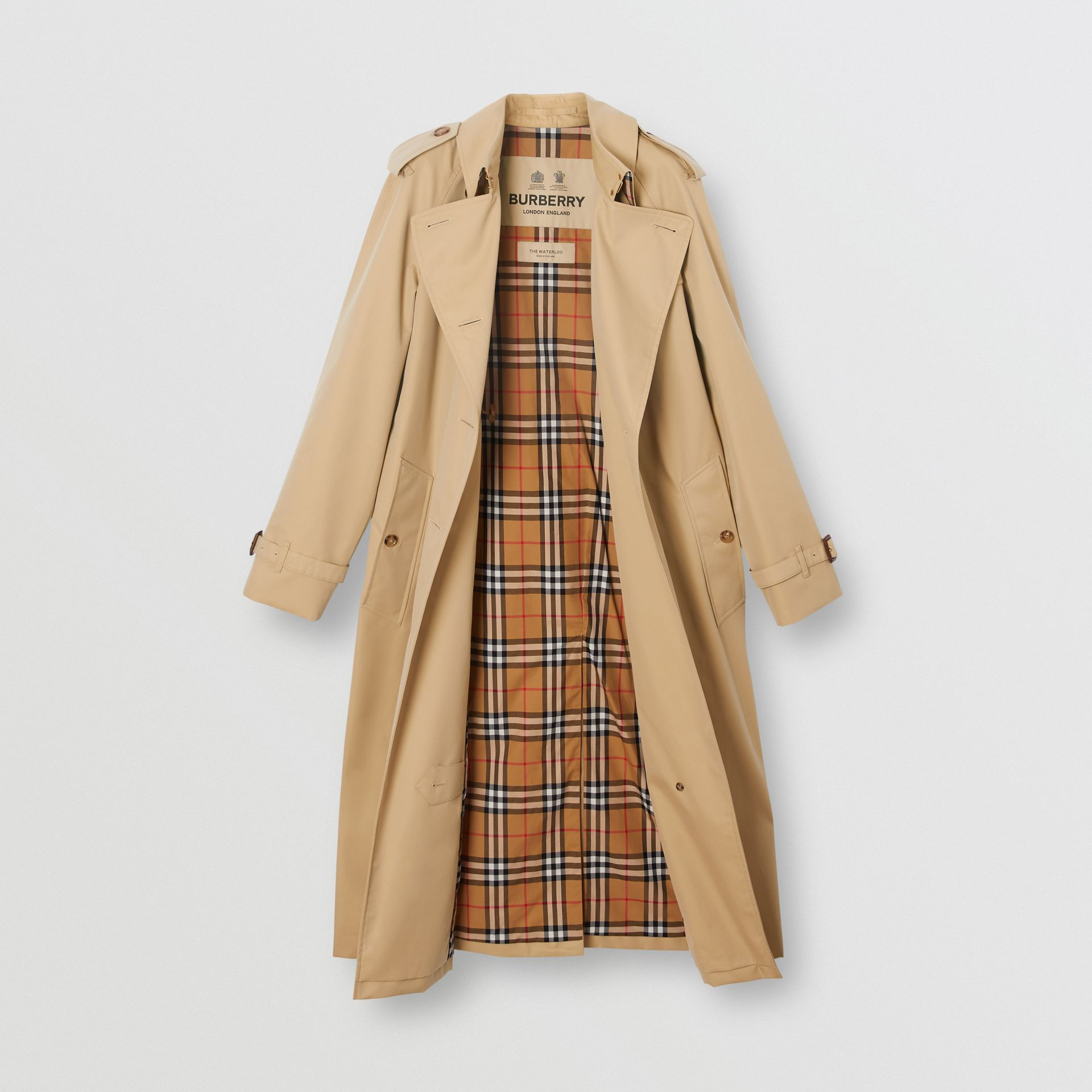 The Long Waterloo Heritage Trench Coat in Honey - Women | Burberry Singapore - gallery image 6