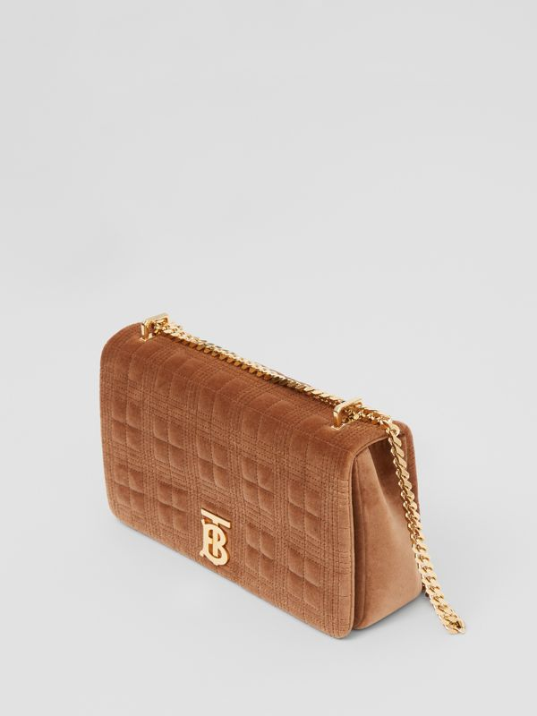 Medium Quilted Velvet Lola Bag in Fawn - Women | Burberry - cell image 3