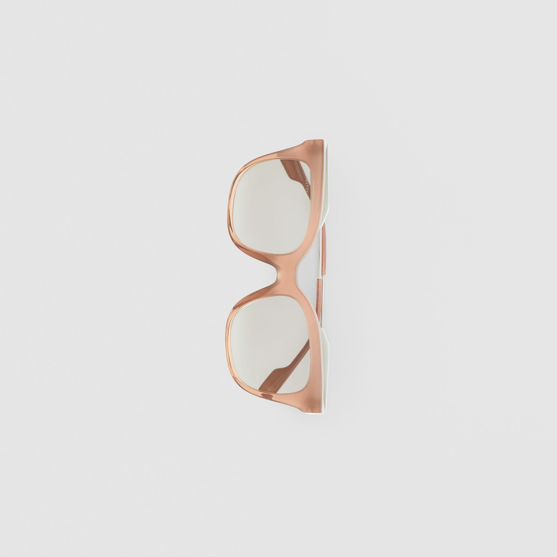 Butterfly Frame Sunglasses in Nude Pink - Women | Burberry - gallery image 3