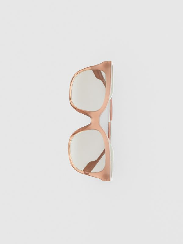Butterfly Frame Sunglasses in Nude Pink - Women | Burberry - cell image 3