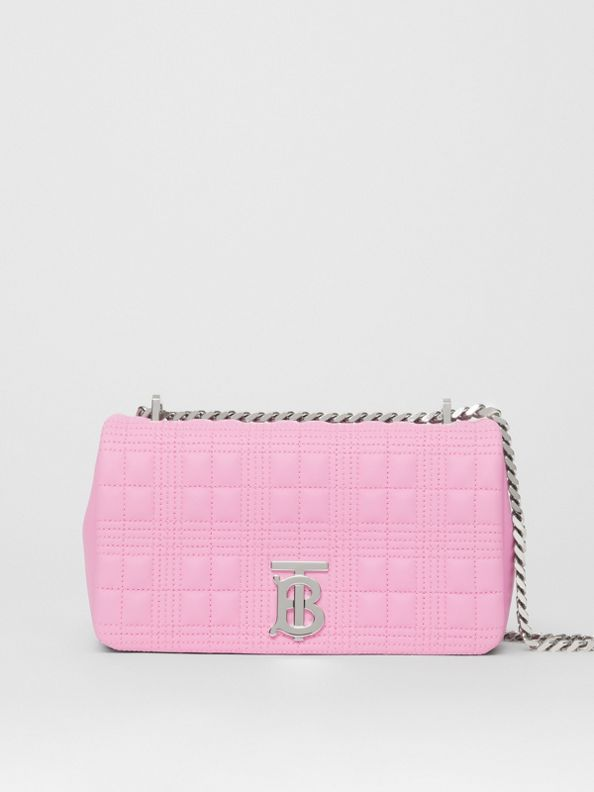 Small Quilted Lambskin Lola Bag in Primrose Pink