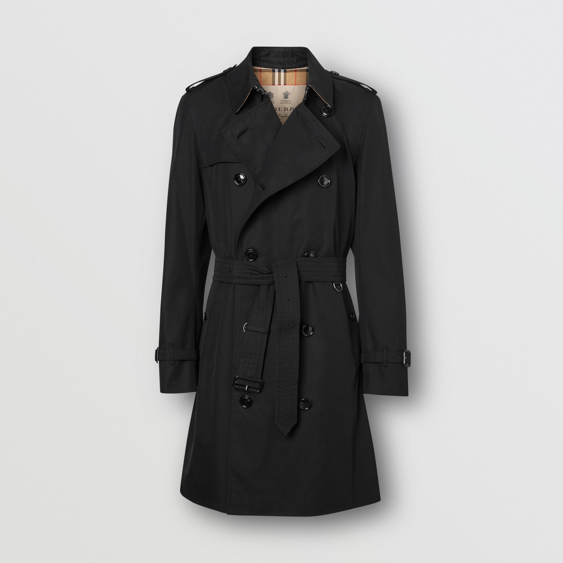 The Mid-length Chelsea Heritage Trench Coat in Black - Men | Burberry Australia - gallery image 3