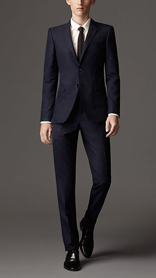 Slim Fit Wool Silk Suit