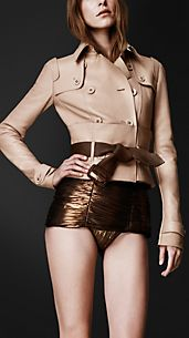 Leather Corset Trench Jacket