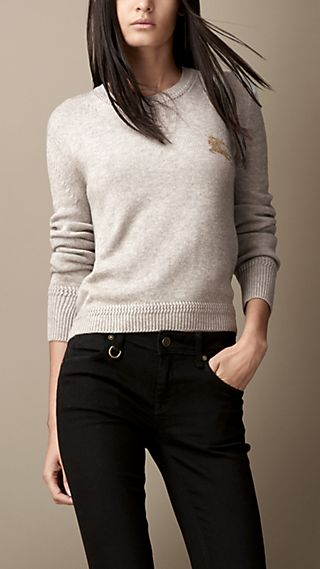 Cashmere Cotton Military Stitch Sweater