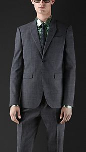 Slim Fit Micro-Houndstooth Jacket