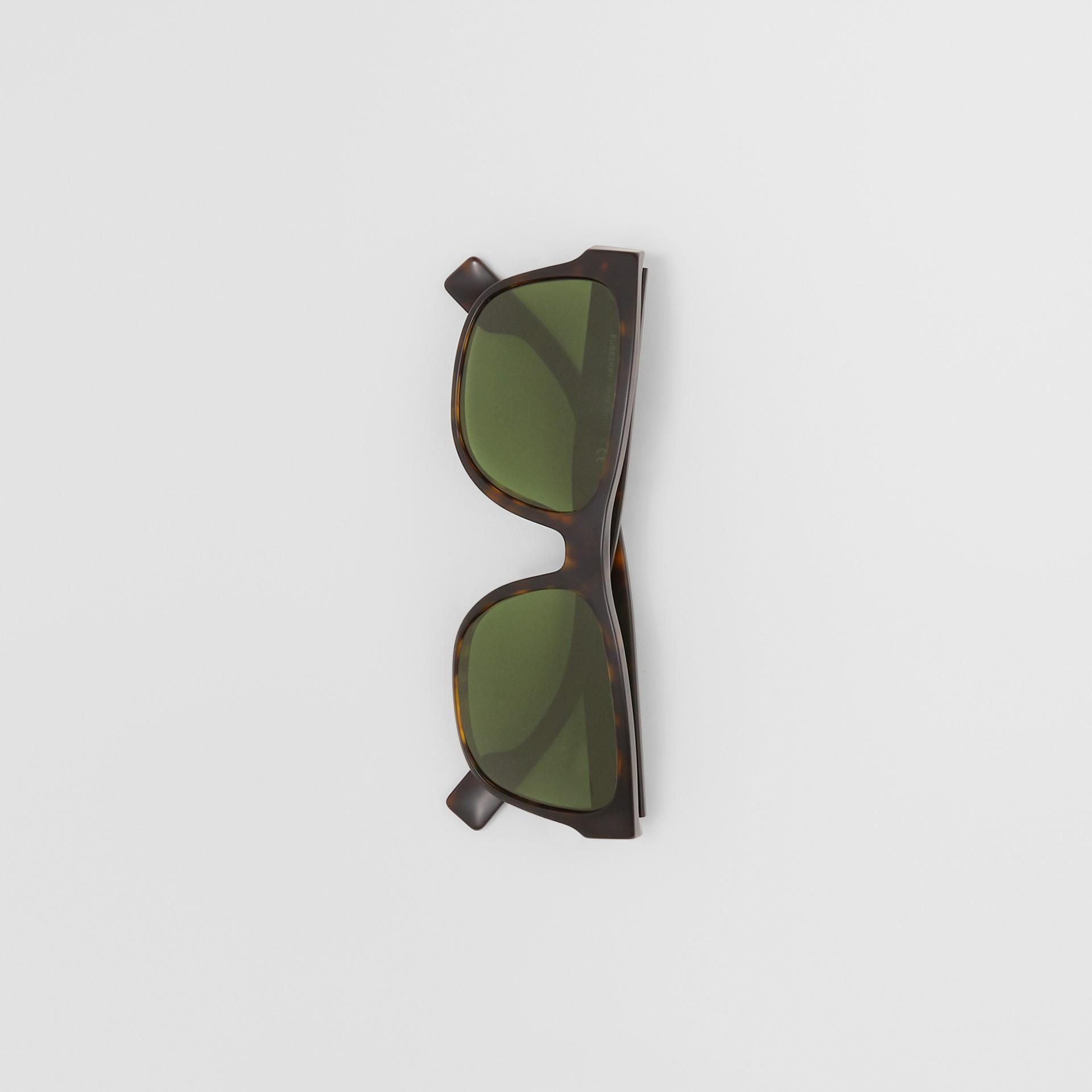 Óculos de sol com armação quadrada e logotipo (Casco  Tartaruga) | Burberry - galeria de imagens 3