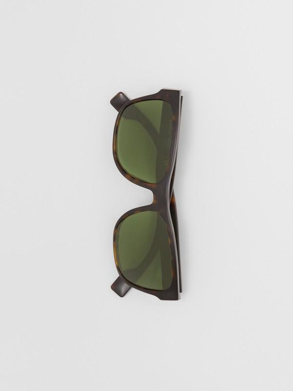 Óculos de sol com armação quadrada e logotipo (Casco  Tartaruga) | Burberry - cell image 3