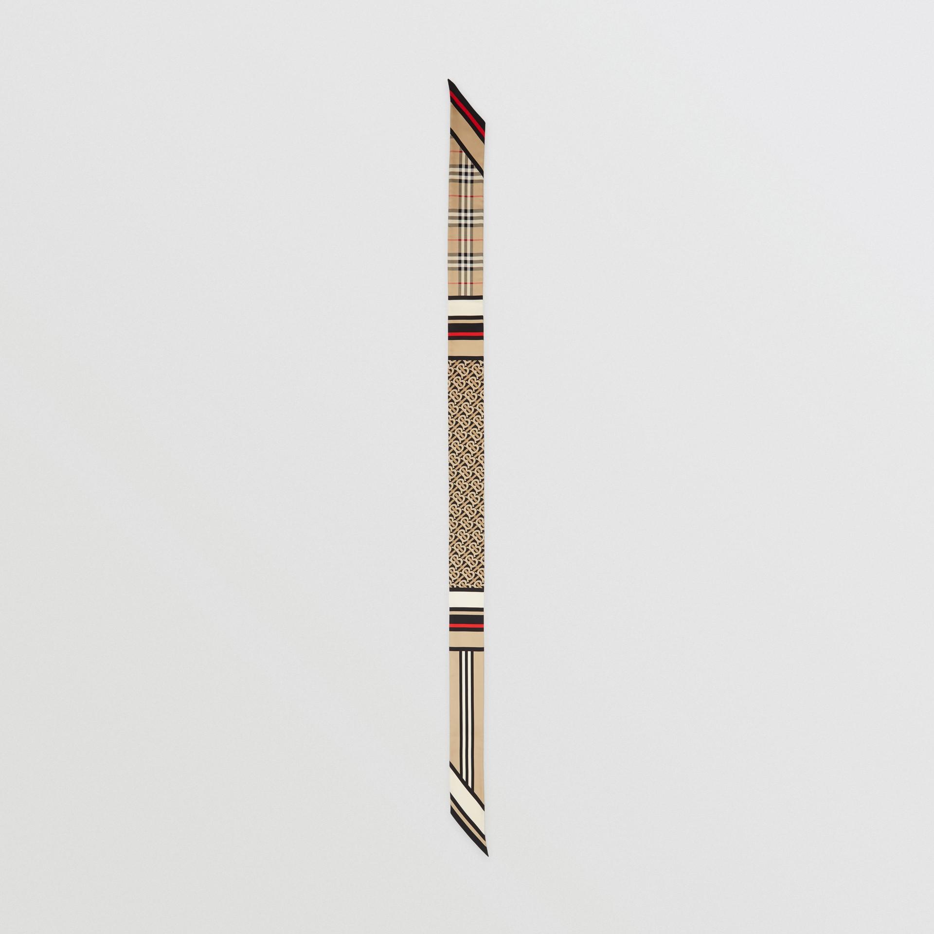 Schmaler Seidenschal mit Druckmotiven (Vintage-beige) | Burberry - Galerie-Bild 5