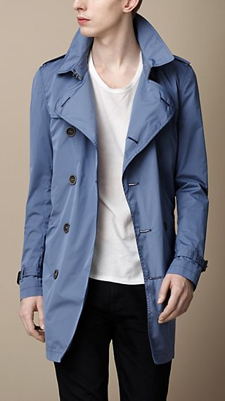 Mid-Length Lightweight Trench Coat