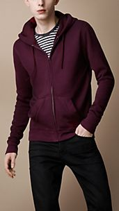 Cotton Blend Hooded Top