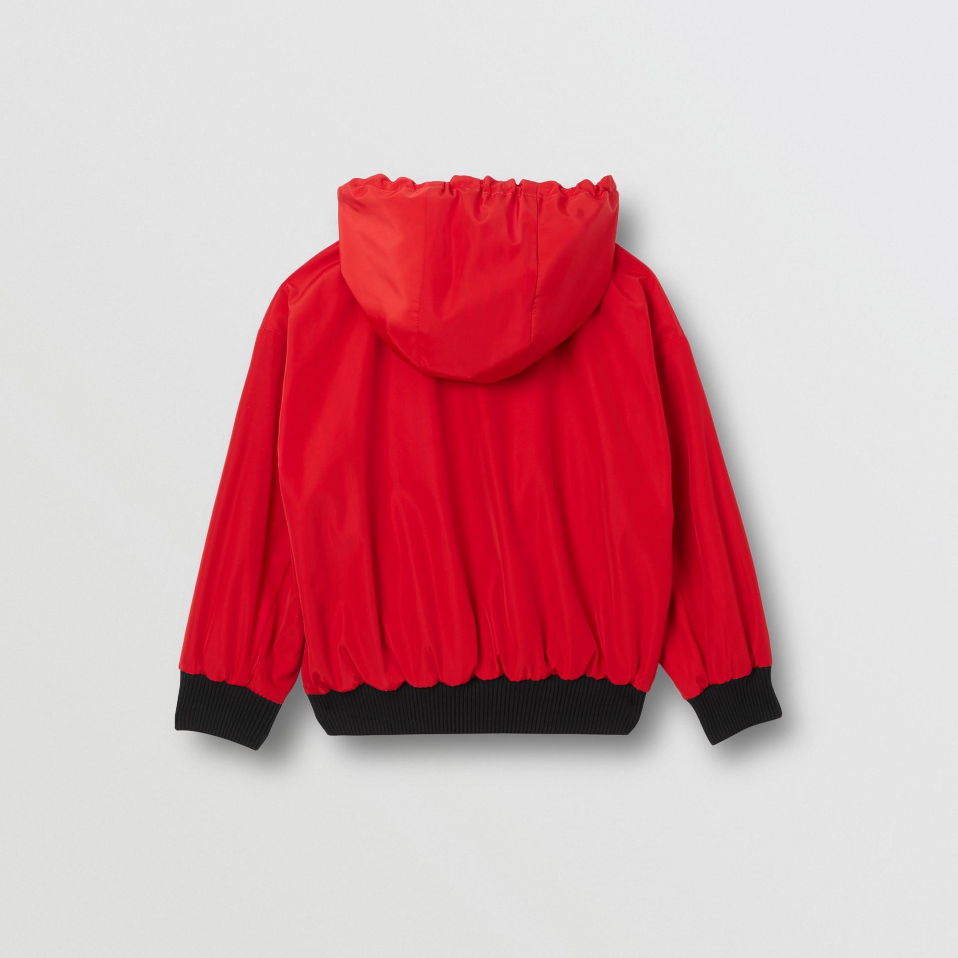 Veste à capuche réversible avec rayures iconiques (Rouge Vif) | Burberry Canada - photo de la galerie 5