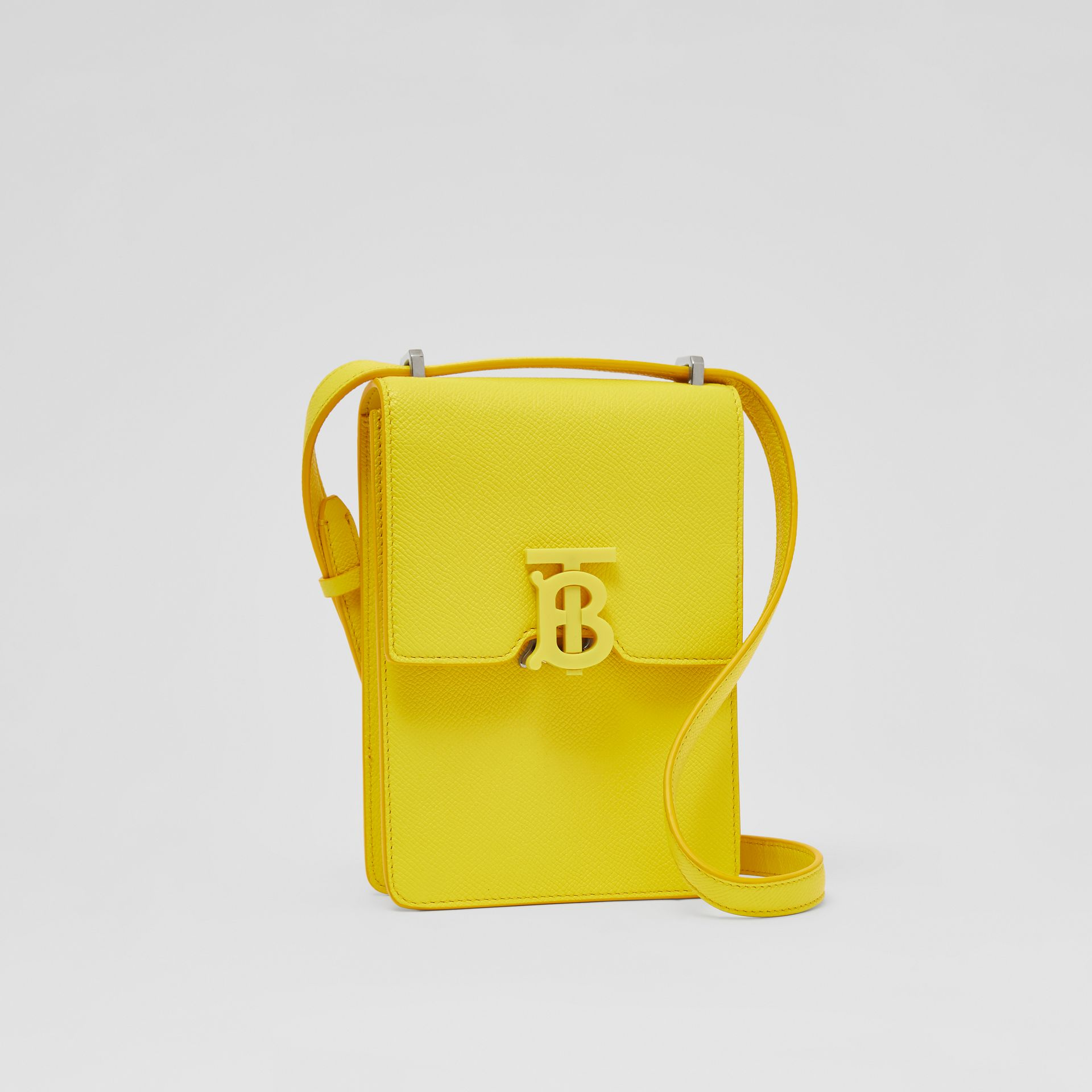 Grainy Leather Robin Bag in Marigold Yellow | Burberry - gallery image 8