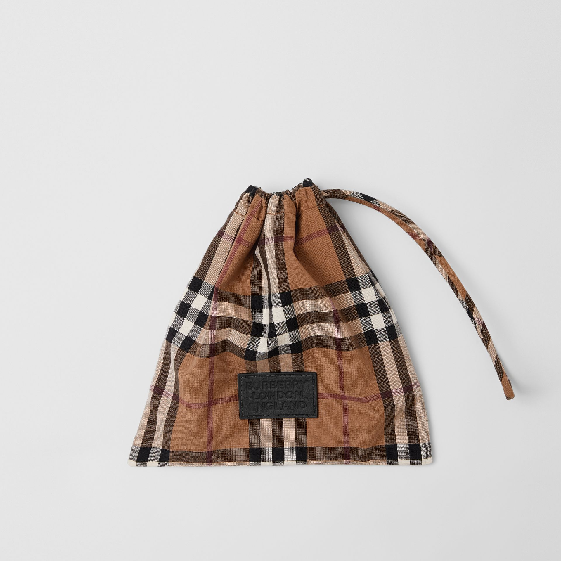 Vintage Check Cotton Face Mask in Birch Brown | Burberry United Kingdom - gallery image 4