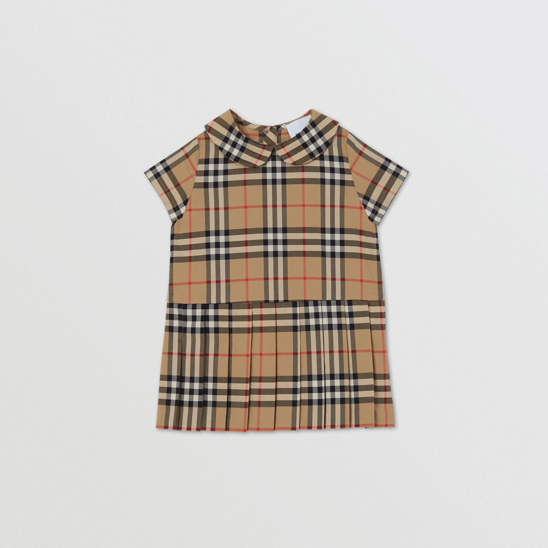 Peter Pan Collar Vintage Check Cotton Dress - Children | Burberry United Kingdom - gallery image 0