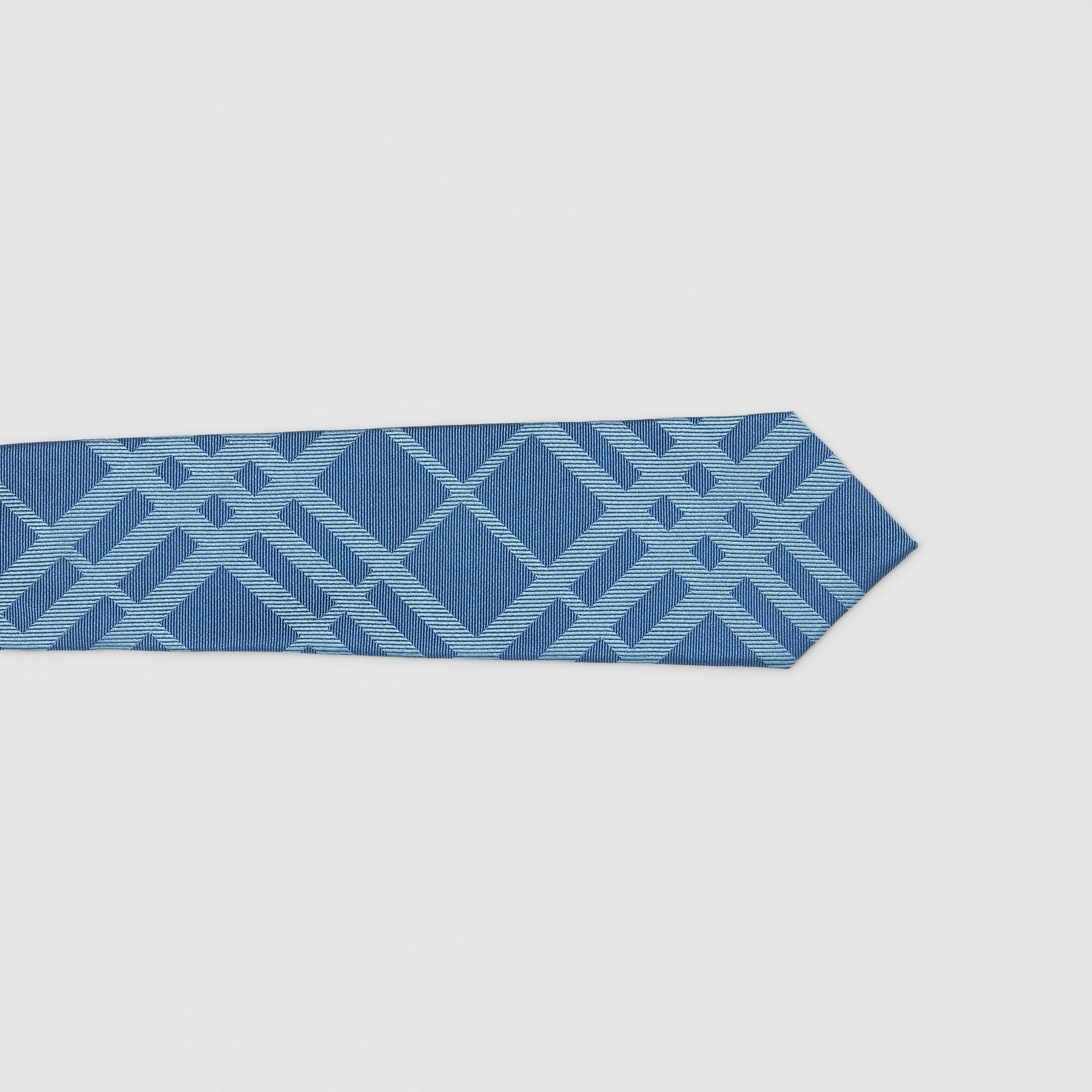 Classic Cut Check Silk Jacquard Tie in Blue Topaz - Men | Burberry - gallery image 1