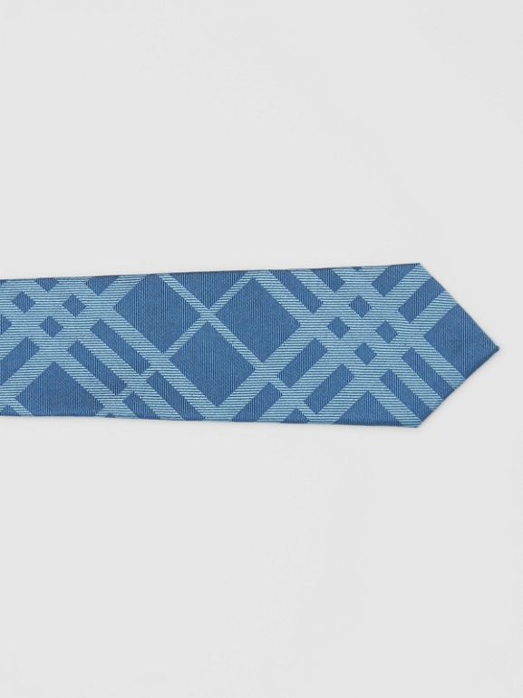 Classic Cut Check Silk Jacquard Tie in Blue Topaz - Men | Burberry - cell image 1