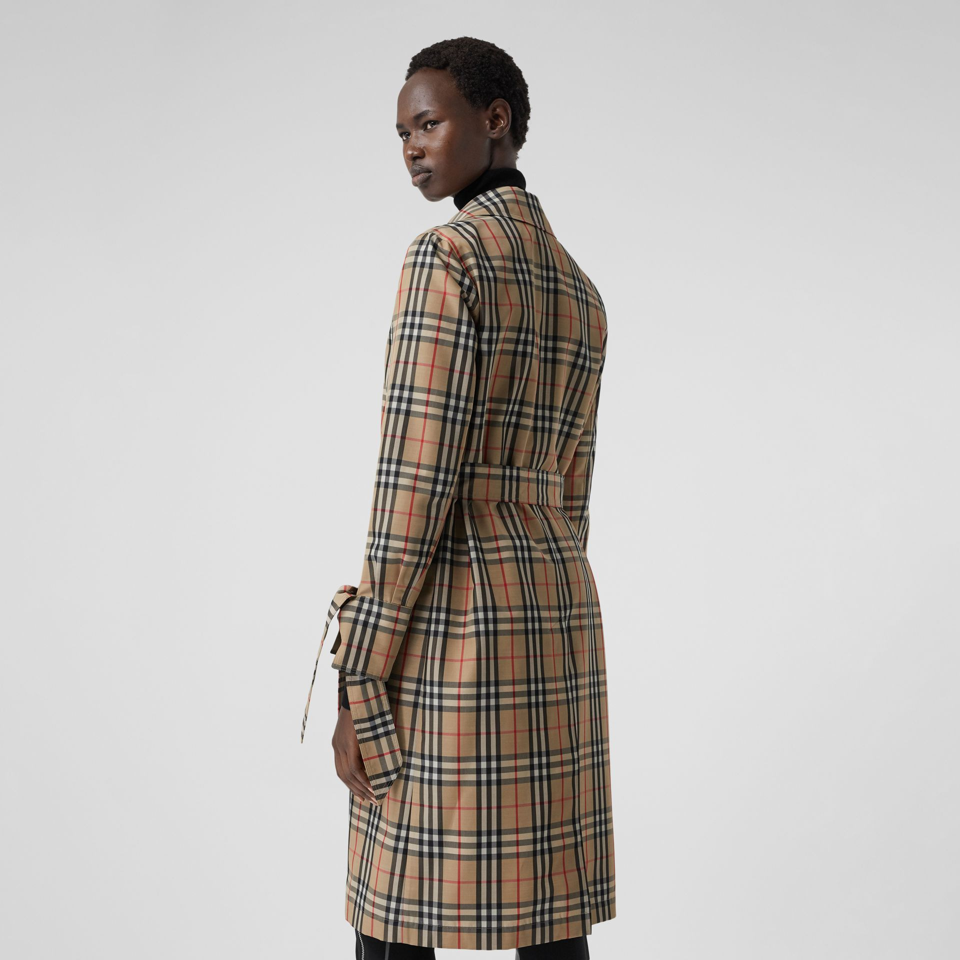 Vintage Check Recycled Polyester Car Coat - Women | Burberry - gallery image 2