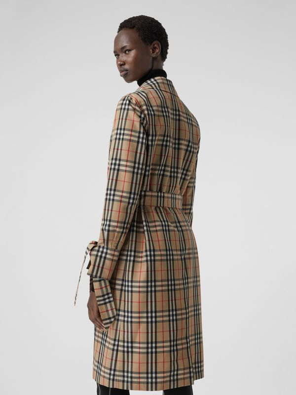 Vintage Check Recycled Polyester Car Coat - Women | Burberry - cell image 2